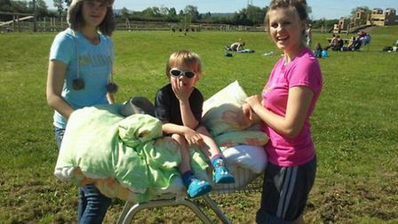 Kids camp out at Puxton Park