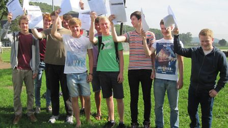 Clevedon School GCSE results day