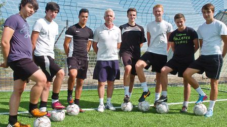 Teenagers who have signed up for new football qualification.