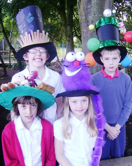 Mad hatters Harry, Daniel, Maya and Cerys.
