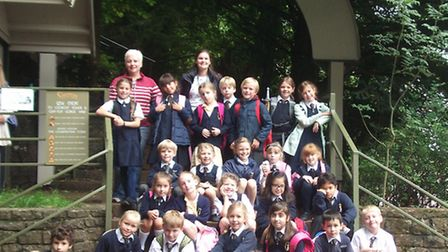 St Joseph's Primary School pupils in Cheddar