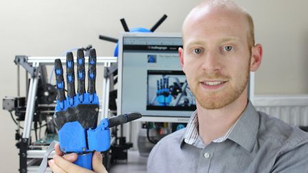 Joel Gibbard who has launched a project to build low-cost robotic hands for amputees.