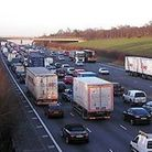 The accident (not pictured above) is causing problems for motorists on the M5