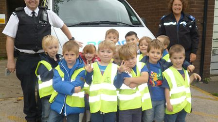 Golden Valley School pupils enjoy a trip to the police station.