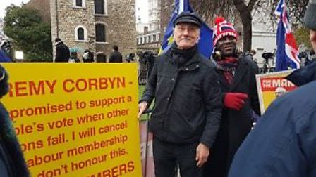 Labour Party member Peter Hayden outside the Houses of Parliament. Photograph: Supplied.