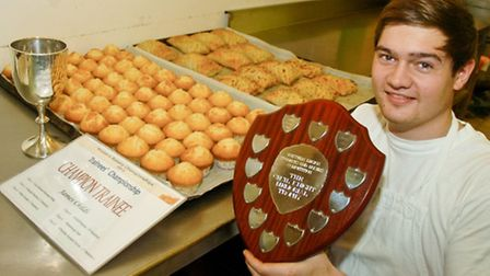Bakery competition winners James Childs.