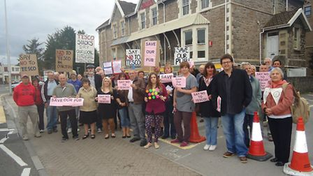 Protestors a year ago this week outside the Town Hall campaigned against Enterprise Inns' plans