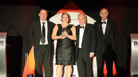 Weston's Castelan Group being presented Customer Excellence Award.