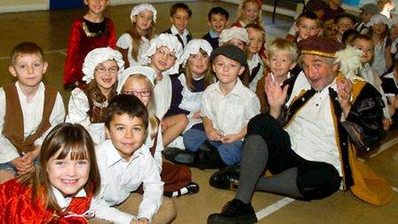 Victorian Day for year two pupils with Bob Gibbin.