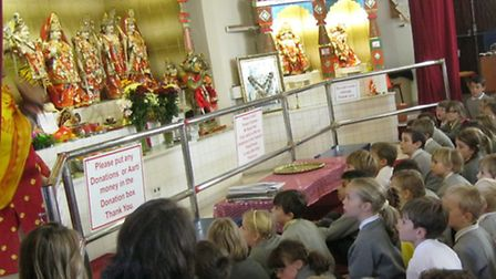Pupils from Golden Valley enjoyed a visit to a Hindu temple.