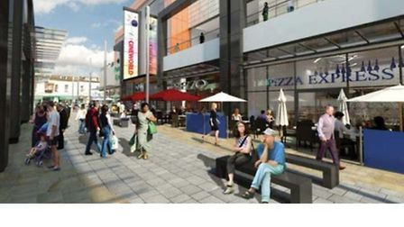 An artist's impression of what the new Dolphin Square leisure sector will look like