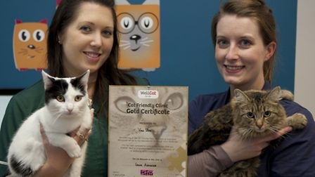 Vale Vets: Veterinary surgeon Louise Alexander (right) and head nurse, Nikki Pitts with the ICC Gold