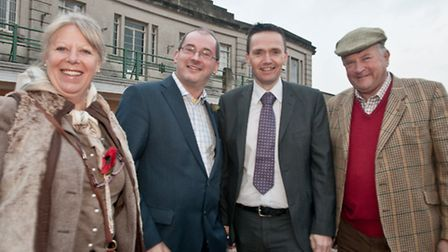 Derek Mead, Mike Bell and Geri Callen with Under Secretary for Communities and Local Government, Ste
