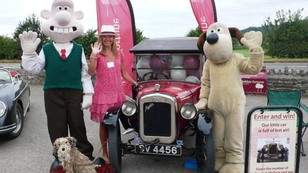 Debbie Fortune with Wallace and Gromit