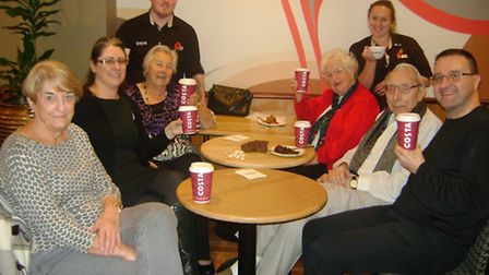 Members of the Contact the Elderly group in Portishead