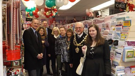 John Penrose MP (left) joined a number of business and economic personnel on a tour of the town's in