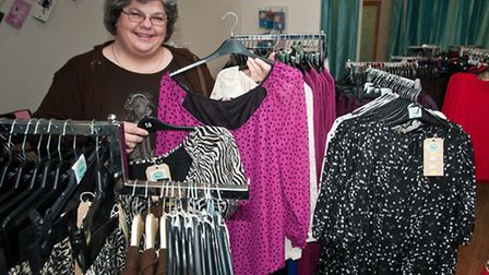 Katie Bright at her new clothing shop.