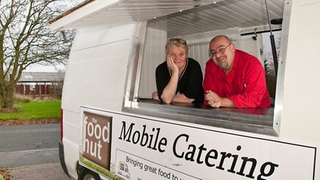 Kate Bull and Doug Wort from the Food Hut, Yatton.