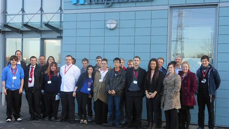 Students meet staff at Knightstone's new flagship Weston office.