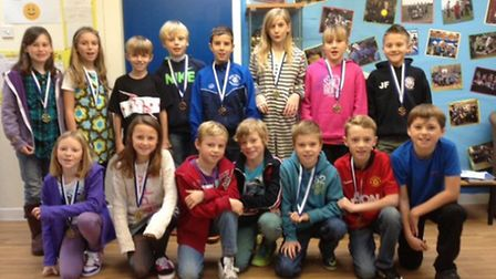 High Down Junior School's cross country runners