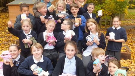 Pupils with their flour babies