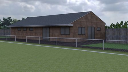 The proposed new changing rooms for Nailsea United
