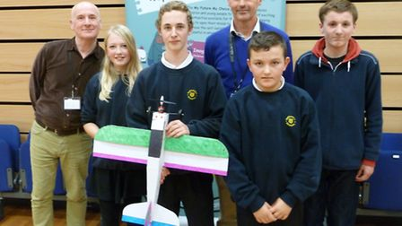 Pupils enjoy an aviation day with volunteer engineers.
