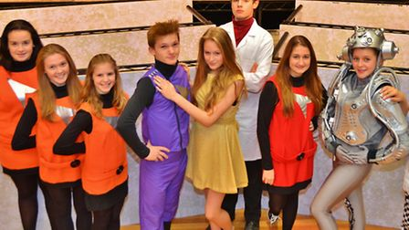Clevedon School's cast of Return to the Forbidden Planet