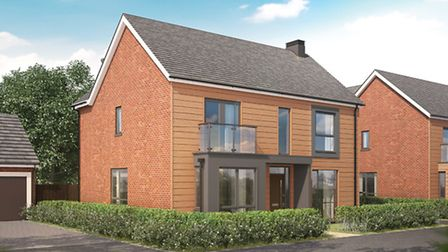 Models for the new homes in the latest phase of development