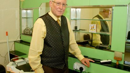 John Morley who is retiring from Panche hairdresser Severn Road, Weston.