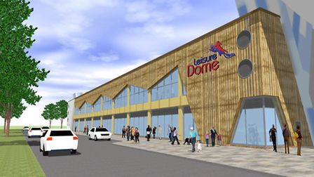 An artist's impression of what the proposed Leisuredome would look like