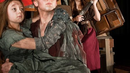 'Les Miserables'. Lois Dexter-Norton as the young Cossette, Robert Gall as Jean Valjean with Sian Wa
