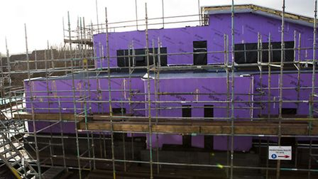 The Willmott Dxon topping out ceremony took place at St Peter's Primary School where a huge new exte