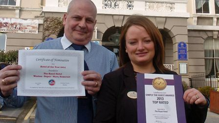 Royal Hotel south Parade, Weston nomination forBest Hotel of the Year, Gemma Barton recptionnist wi