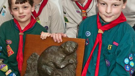 The Beaver Haynes trophy was presented to the Lloyd family, dad Dan, mum Liz and sons William and Th