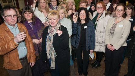 North Somerset business people celebrating getting high street innovation grants.