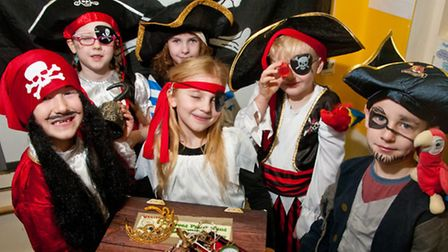 Pirates in search of treasure at St Peter's Primary School.