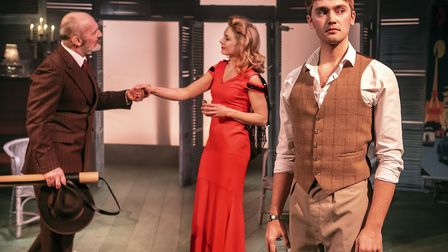 Jerome Pradon, Kelly Price and Felix Mosse in Aspects of Love. Photo: Pamela Raith.