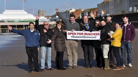 Burnham business owners and residents. Photo: Mike Lang