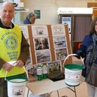 Weston Rotary Club collecting for flood relief. Photo: Ken Lohmann from Weston Rotary Club and his w