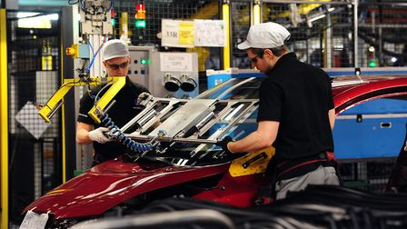 Production at the Nissan plant in Sunderland. Picture: Anna Gowthorpe/PA Wire