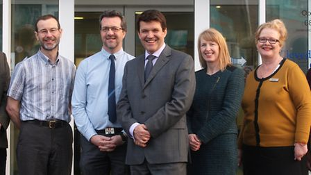 The Work Doctors team: Dr Andrew Warinton, Dr Stephen Pill, Roger Harrison, Dr Mark O'Connor, Julie