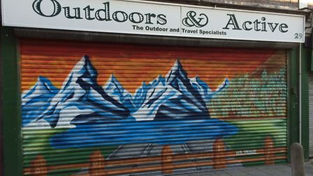 Some of the graffiti art in Orchard Meadows.