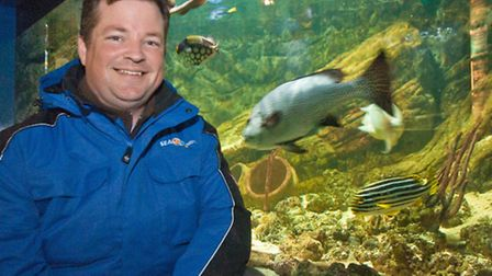 David McCubbin, new manager of the Seaquarium.