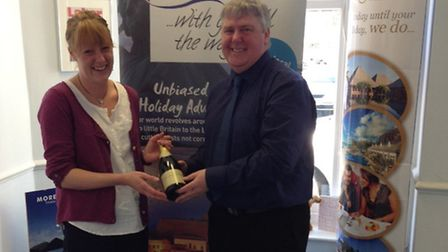 Mother's Day competition winner Emily Dobbs with Geoff Pook of Global Independent Travel