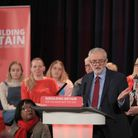 Labour leader Jeremy Corbyn speaking in Hastings in East Sussex. Photograph: Gareth Fuller/PA.