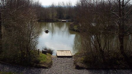 One of the lakes at Landsend Fishery at Heath House.