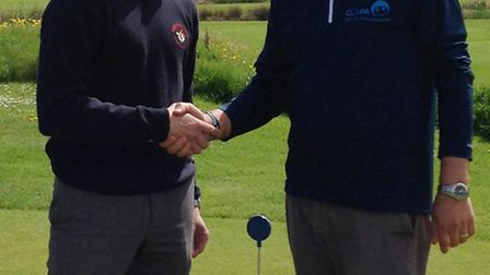 Andrew and Kieran from Brean Golf Club.