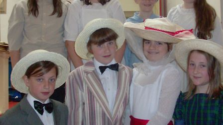 Crockerne Primary School pupils performed a Mary Poppins number during the show