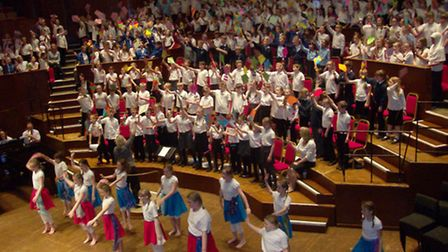 The MAWS concert featured hundreds of pupils from across North Somerset